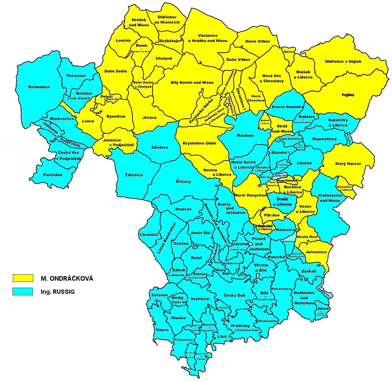 Mapa Mapa Liberec